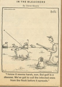 Golf Disease Cartoon